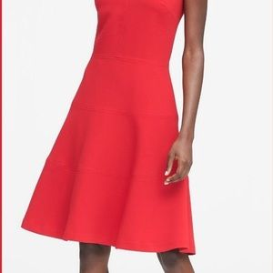 Stretch racerback and flare dress